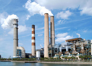 remove oil at power plant